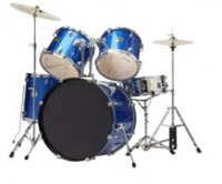 Bridgecraft DeRosa BLUE 5 PC Junior Drumset (DRM516)