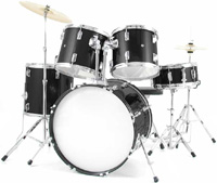 Bridgecraft Huntington 5 PC Black Drum Kit (DRM522-BK)