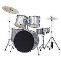 Bridgecraft Huntington Silver  5 PC Drum Kit (DRM522-SL)