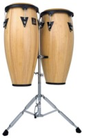 "LP Aspire Wood Conga Set 10"" and 11"" With Double Stand (LPA646)"