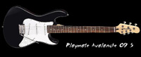 Dean Playmate Avalanche 3/4 Size Electric Guitar, Black (PLAYAVJ CBK)
