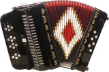 SofiaMari SM-3412 BLACK 3 Switch 34 Button Accordion (SM-3412)