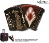 SofiaMari 5 Switch 34 Button 12 Bass Elite Series Accordion (SME-3412/5)