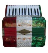 Rossetti 12 Bass 25 Key Piano Accordion - Tri Color (ROS 2512V)