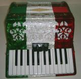 Rossetti 2648 48 Bass 26 Key 3 Switch Piano Accordion - Tri Color (ROS 2648V)