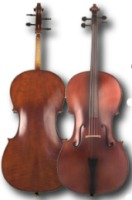 SofiaMari Cello 2 Piece Flame Maple Back, Ebony Fittings 4/4 (SM 520E 4/4)